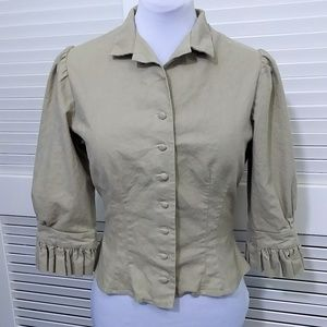 Cattle Kate 3/4 Length Sleeve Jacket or Top Size S